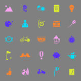 Slow life activity color icons on gray background Royalty Free Stock Image