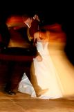 Slow Motion. Couple dancing on their wedding day Royalty Free Stock Photography