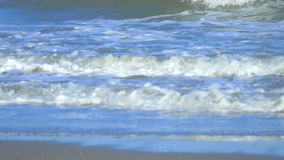 Slow Motion Beautiful Blue Giant Ocean Wave Crashing on Beach in Thailand stock footage