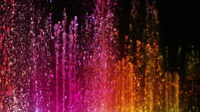 Slow motion of colorful fountain Stock Photo