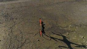 Slow motion drone crash stock footage