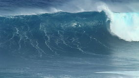 Slow Motion: Empty Ocean Wave Crashing Stock Photos