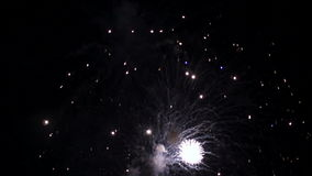 Slow-motion Fireworks II stock video footage