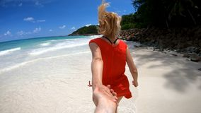 Follow love at Seychelles stock footage