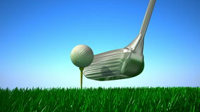 Slow Motion Golf strike. stock footage