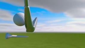 Slow Motion Golf strike 3d render royalty free illustration