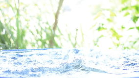 Slow motion of man diving. Into water stock footage