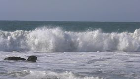 Slow motion of the ocean view in Marcona, Peru