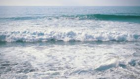 Slow Motion Ocean Waves Incoming on Shore stock video