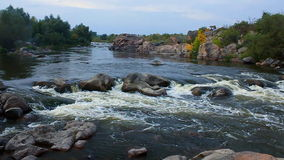 Slow motion of river stream. HD stock footage