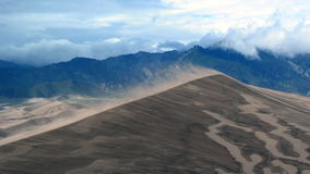 Slow Motion of Sand Saltation on Large Dune stock video footage