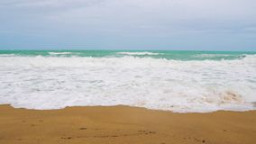 Slow motion, sea waves on a tropical beach. Slow motion, sea waves on a tropical beach stock footage