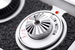 Slow motion selector. Frames per second selector on vintage 8mm camera Stock Photography