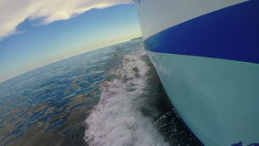 Slow motion from a side of a ship stock video footage
