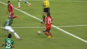 Slow Motion Soccer Play. Stock video of soccer player in slow motion stock video footage
