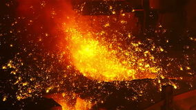 Slow motion sparks metal stock footage