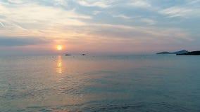 Slow motion sunset ibiza stock footage