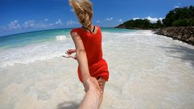 Together at Seychelles stock video footage