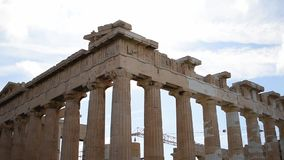 Acropolis of athens HD slow motion stock video