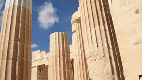 Acropolis of athens HD slow motion stock footage