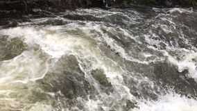 Slow motion video of fast flowing water stock video footage
