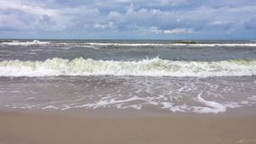 Waves approaching the beach stock footage