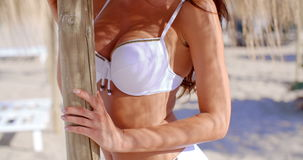 Slow Motion Video of Brunette Girl in Bikini