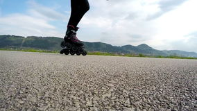 Slow motion Video: skater during recreation ride stock video footage