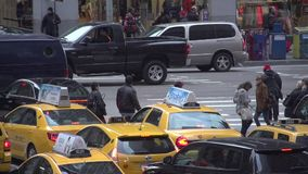 Slow Motion view of NYC intersection (3 of 4) stock video footage