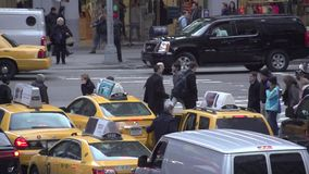Slow Motion view of NYC intersection (1 of 4) stock video footage