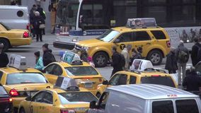 Slow Motion view of NYC intersection (2 of 4) stock video footage