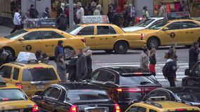 Slow Motion view of NYC intersection (4 of 4) stock footage