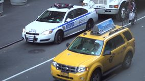 Slow Motion view of NYC traffic (6 of 8) stock video