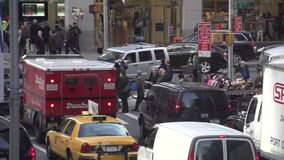 Slow Motion view of NYC traffic (7 of 8) stock video footage
