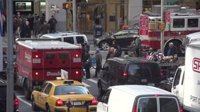 Slow Motion view of NYC traffic (3 of 8) stock footage