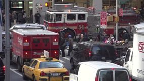 Slow Motion view of NYC traffic (4 of 8) stock footage