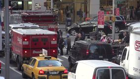 Slow Motion view of NYC traffic (5 of 8) stock video footage