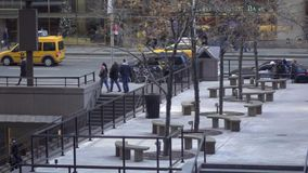 Slow Motion view of NYC traffic (1 of 8) stock video footage