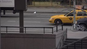 Slow Motion view of truck in NYC stock video