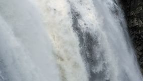 Water falling. Mountain stock video footage