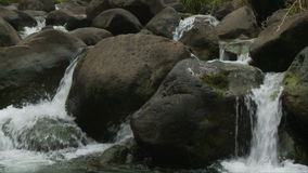 Slow Motion water from stream - Clip 6 stock footage