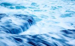 Slow motion waves background stock image
