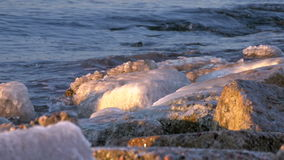 Sunset on the Gulf of Baltic sea, Riga,Latvia stock video footage