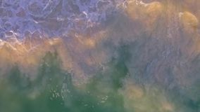 Slow motion waves view from overhead stock footage