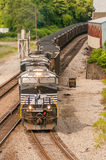 Slow moving Coal wagons Royalty Free Stock Image