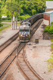 Slow moving Coal wagons Royalty Free Stock Photo