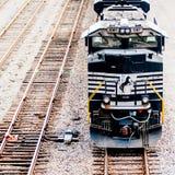 Slow moving Coal wagons stock photos