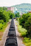 Slow moving Coal wagons Royalty Free Stock Photography