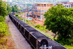Slow moving Coal wagons Stock Photography