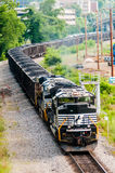 Slow moving Coal wagons Stock Photos